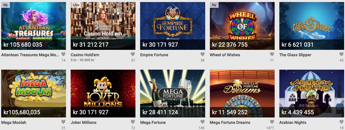 Norske Jackpot spilleautomater